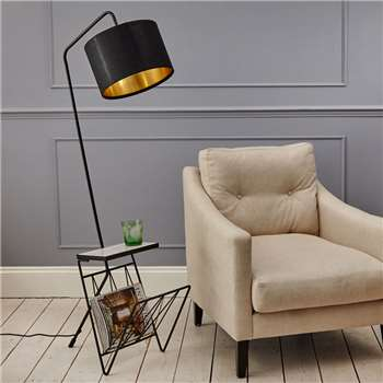 Magazine Rack Floor Lamp (H144 x W35 x D55cm)