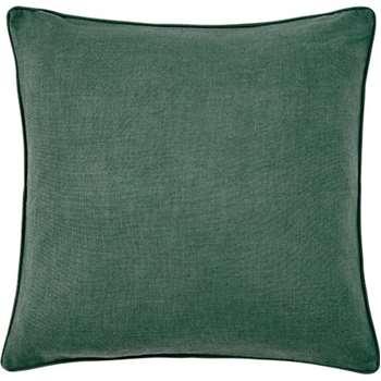 Maggie Textured Cotton Cushion, Teal (55 x 55cm)