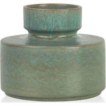 Magni Small Vase, Green (H15 x W18 x D18cm)