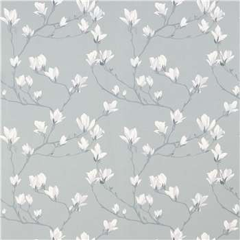 Magnolia Grove Slate Grey Wallpaper