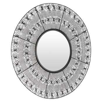 MAHALA Black Wire Mirror (H96 x W93 x D2cm)