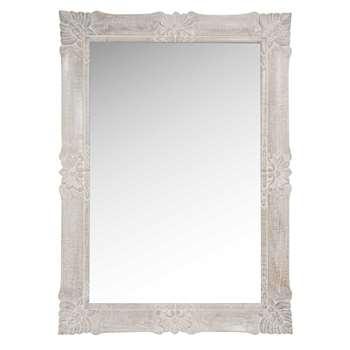 MAHINA - Bleached Mango Wood Mirror (H109 x W79cm)