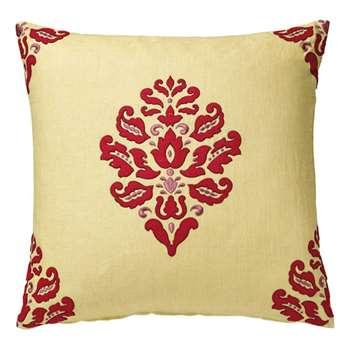 Majuli Cushion Cover - Red/Gold (51 x 51cm)