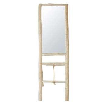 MAKOA Teak Mirror Shelving Unit (H158 x W51 x D70cm)