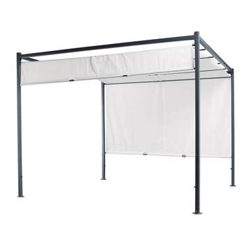 MALAGA Cotton gazebo in ecru (220 x 300cm)