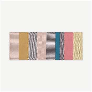 Malay Striped Wool Runner, Multi (H200 x W70 x D1cm)