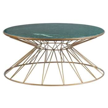 Mali Brass Coffee Table (H35 x W90 x D90cm)