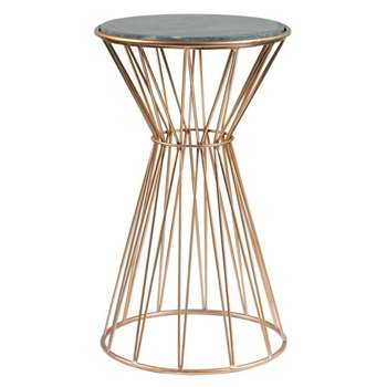 Mali Brass Side Table (H60 x W35 x D35cm)