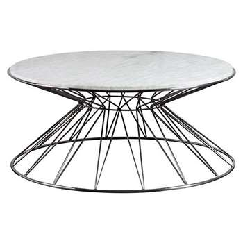 Mali Silver Coffee Table (H35 x W90 x D90cm)