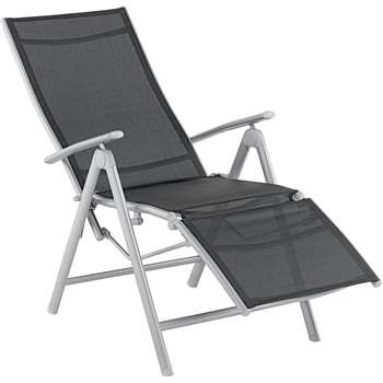 Malibu Recliner Chair - Black (114 x 59 x 134cm)