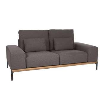 Malmo two seater sofa dark grey (69 x 189cm)