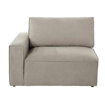 MALO Fabric left sofa arm unit in beige