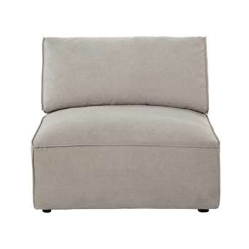 MALO Fabric low sofa in beige (70 x 100cm)