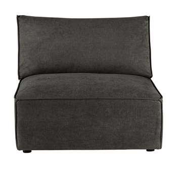 MALO Fabric low sofa in grey taupe (70 x 100cm)