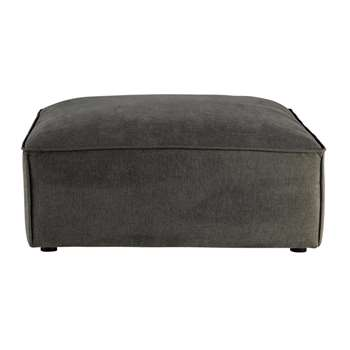 MALO Fabric modular pouffe in grey taupe (44 x 103cm)