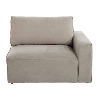 MALO Fabric right sofa arm unit in beige