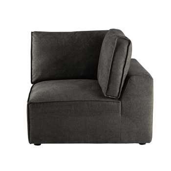 MALO Fabric sofa corner unit in grey taupe