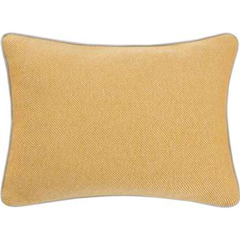 Malone 100% Cotton Cushion, Mustard (H35 x W50cm)