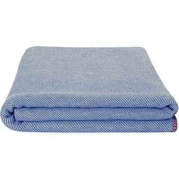 Malone 100% Cotton Throw, Denim Blue (150 x 200cm)