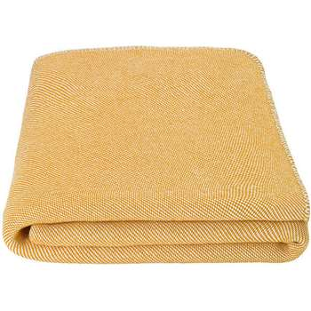 Malone 100% Cotton Throw, Mustard (H150 x W200cm)