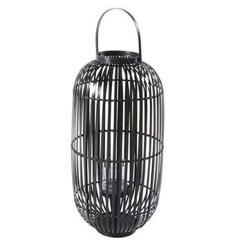 MANA Black Bamboo Lantern (H60 x W30 x D30cm)