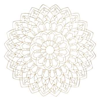 MANDALOR Metal Wire Mandala Wall Art In Gold (80 x 80cm)