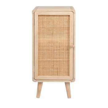 MANEA - Small Canework Storage Unit (H62 x W28.5 x D24cm)