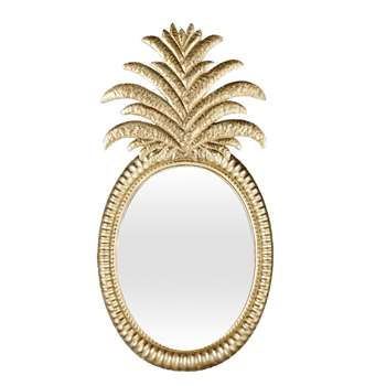 MANILLE Gold Metal Pineapple Mirror (84.5 x 43cm)