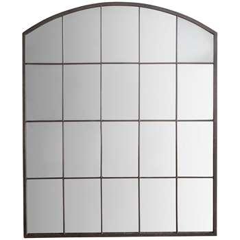 Manon Arched Mirror, Metallic (H91 x W76 x D2cm)