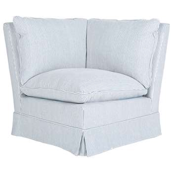 Manon Corner Unit - Blue/White Ticking Stripe (83 x 84cm)