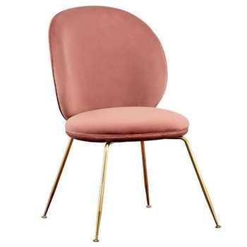 Mantis Dining Chair - Blush Pink (H89 x W53 x D46cm)