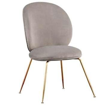 Mantis Dining Chair - Dove Grey (H89 x W53 x D46cm)