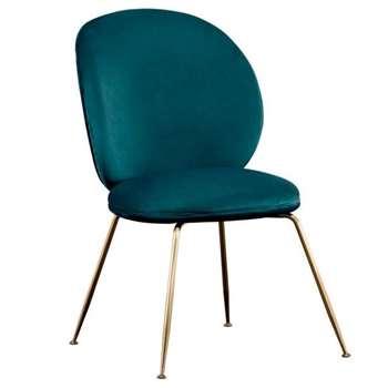 Mantis Dining Chair - Peacock (H89 x W53 x D46cm)