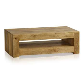 Mantis Light Natural Solid Mango Coffee Table (H36 x W110 x D60cm)