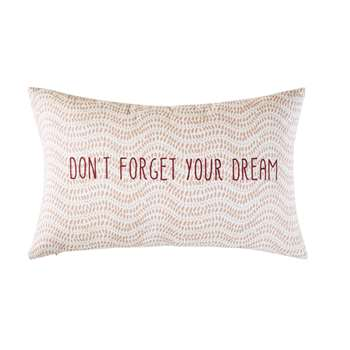 MANTRA Outdoor Cushion in Pink and Ecru Cotton with Print (H30 x W50 x D10cm)