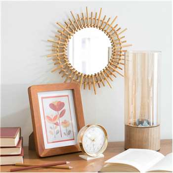 MARAPONG round bamboo mirror D 30 cm