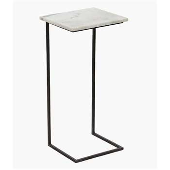 Marble Laptop Table - White Marble (65 x 30cm)
