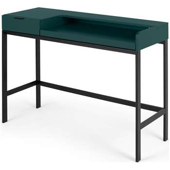Marcell Compact Desk, Peacock Green (H87 x W110 x D40cm)