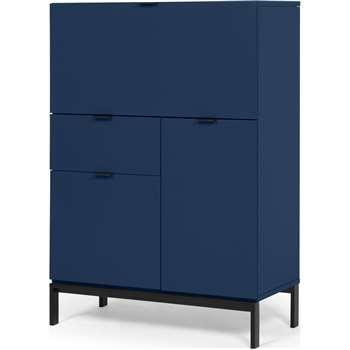 Marcell Desk Bureau, Dark Blue (H115 x W80 x D40cm)