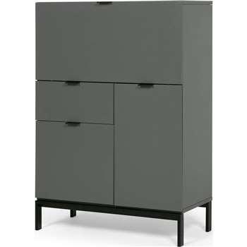 Marcell Desk Bureau, Grey (115 x 80cm)