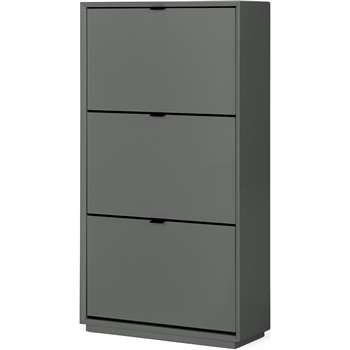 Marcell Double Shoe Storage Cabinet, Grey (H122 x W64 x D25cm)