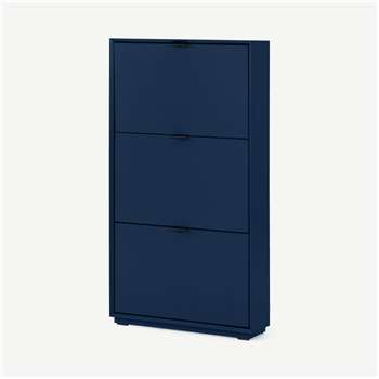 Marcell Shoe Storage Cabinet, Deep Blue (H123 x W64 x D18cm)