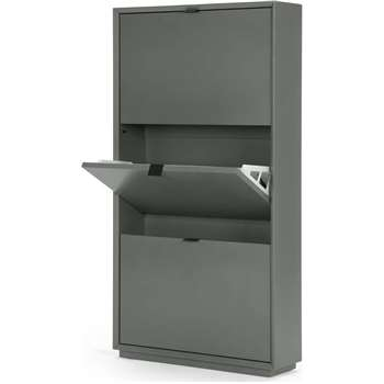 Marcell Shoe Storage Cabinet, Grey (119 x 64cm)