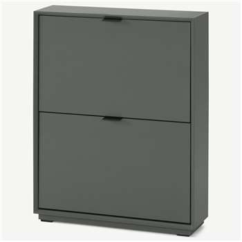 Marcell Small Shoe Storage Cabinet, Grey (H84 x W64 x D18cm)