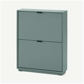 Marcell Small Shoe Storage Cabinet, Stone Blue (H84 x W64 x D18cm)