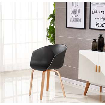 Marcelo Dining Chair - Black (75 x 52cm)