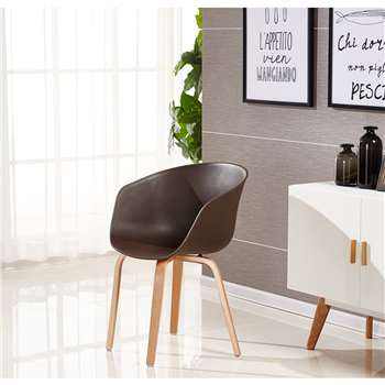 Marcelo Dining Chair - Chocolate (75 x 52cm)
