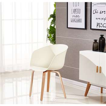 Marcelo Dining Chair - Cream (75 x 52cm)