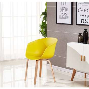 Marcelo Dining Chair - Mustard (75 x 52cm)