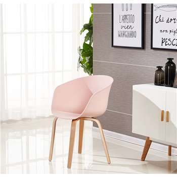 Marcelo Dining Chair - Pink (75 x 52cm)